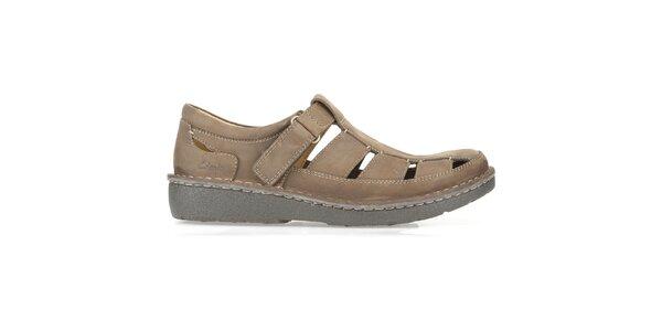 Pánské hnědé otevřené boty Clarks
