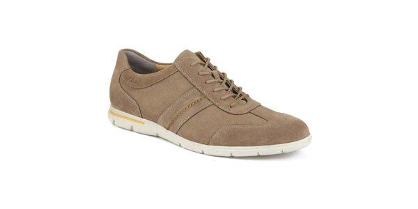 Pánské hnědé semišové sportovní boty Clarks