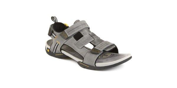 Pánské šedé sandály Clarks - kožené