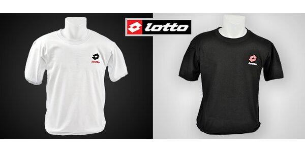 2 pánská bavlněná trička Lotto v černé nebo bílé