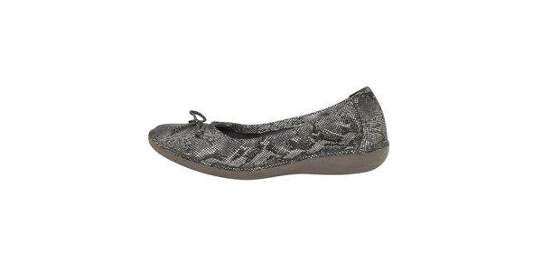 Dámské šedobílé hadí balerínky Buggy