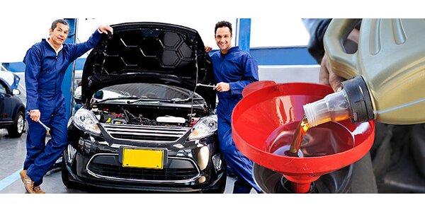 Kompletní servis, výměna oleje a doplnění kapalin
