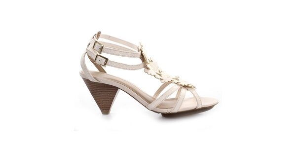 Dámské krémově bílé sandálky s motýlky Via Uno