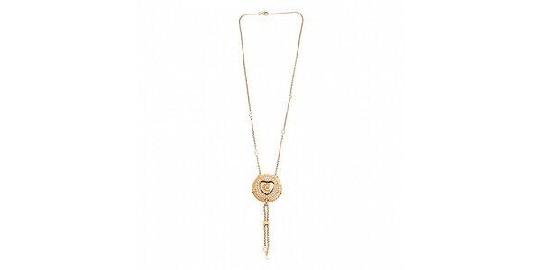 Dámský zlatý ocelový náhrdelník Cerruti 1881 s medailónkem