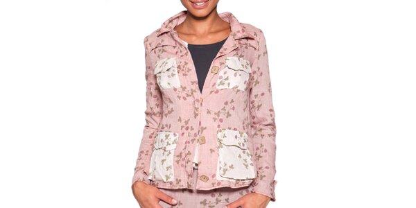 Dámské světle růžové sako s potiskem Ian Mosh