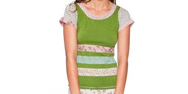 Dámské trávově zelené tričko s krátkým rukávem Ian Mosh