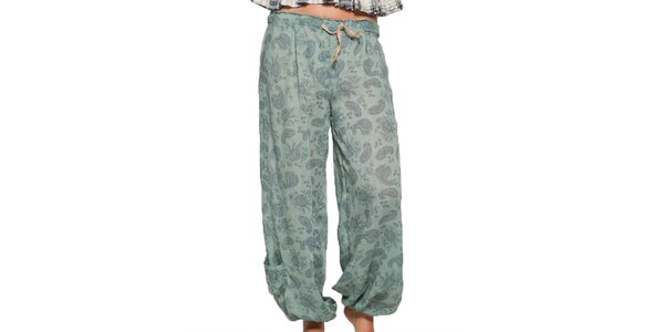 Dámské zelené vzorované kalhoty Ian Mosh