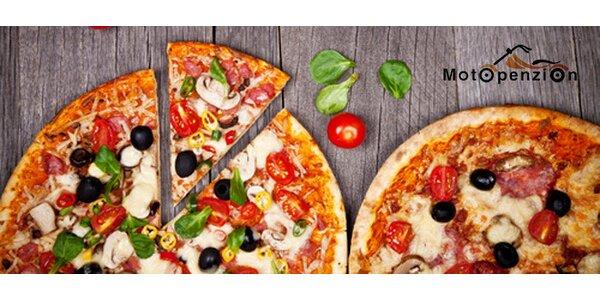 1 nebo 2 křupavé pizzy dle vlastního výběru