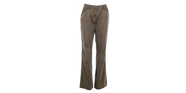 Dámské světle hnědé bavlněné kalhoty Northland Professional