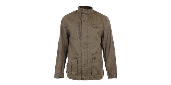 Pánská hnědá bavlněná bunda s podšívkou Northland Professional