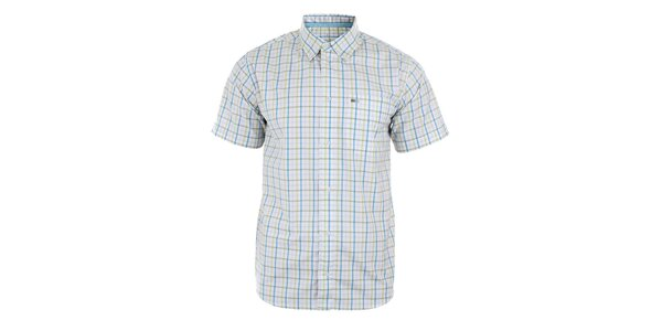 Pánská bílá košile s modro-zeleným kostkováním Northland Professional