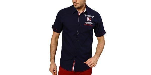 Pánská tmavě modrá košile s krátkým rukávem Northern rebel