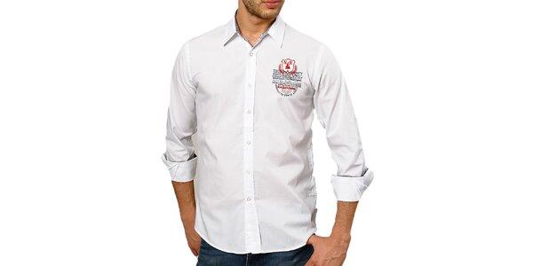 Pánská bavlněná košile v bílé barvě Northern rebel
