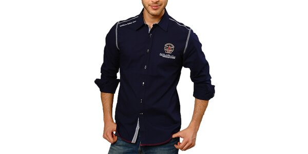 Pánská ležérně elegantní košile v tmavě modré barvě Northern rebel
