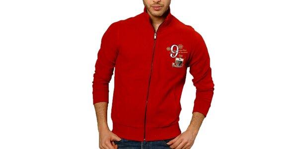 Pánský červený svetr se zipem Northern rebel