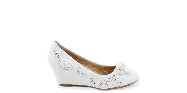 Dámské bílé botky s perforací Colorful