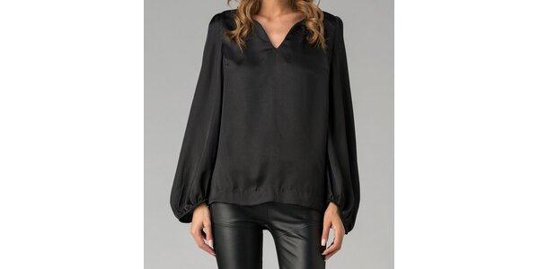 Elegantní černá tunika Twist