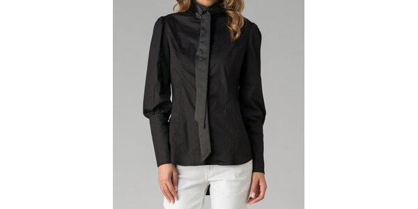 Černá dámská košile s mašlí Twist