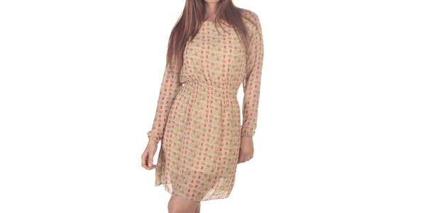 Dámské krátké šaty s potiskem soviček Azura