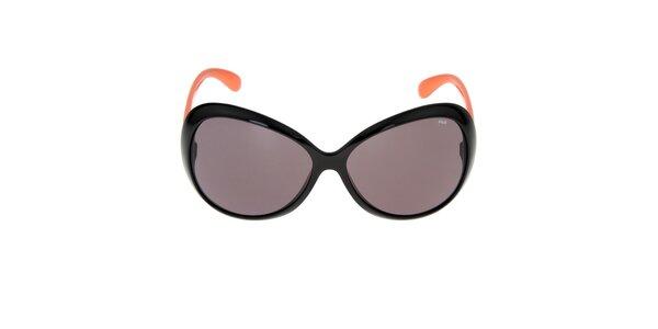 Dámské sluneční brýle s oranžovými stranicemi Fila