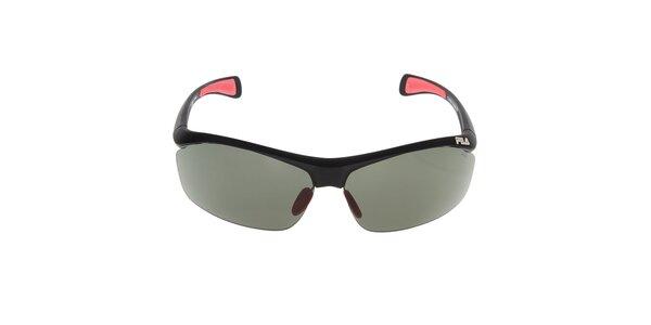 Černé sluneční brýle s barevnými prvky Fila