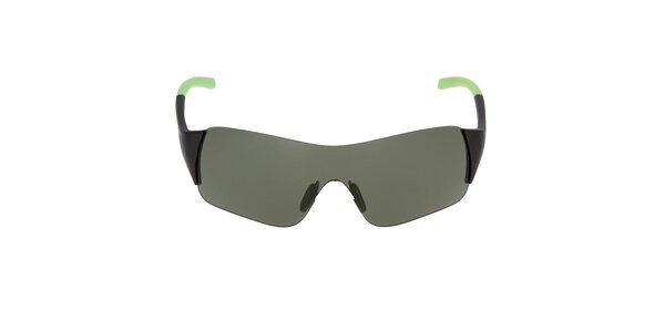 Sluneční brýle se zeleným zakončením stranic Fila