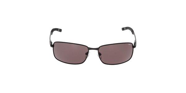 Pánské černé sluneční brýle s hnědými skly Fila