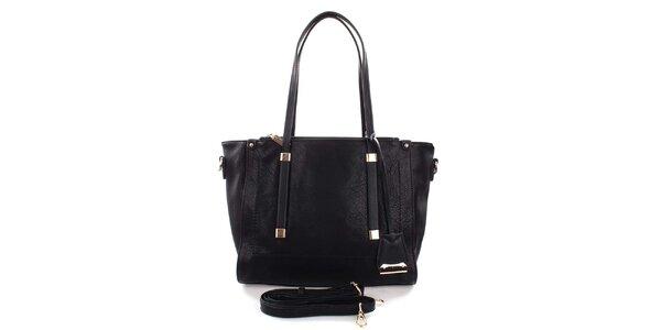 Dámská černá kabelka se zlatými detaily Castella & Beige