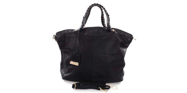 Dámská černá kabelka s proplétanými uchy Castella & Beige