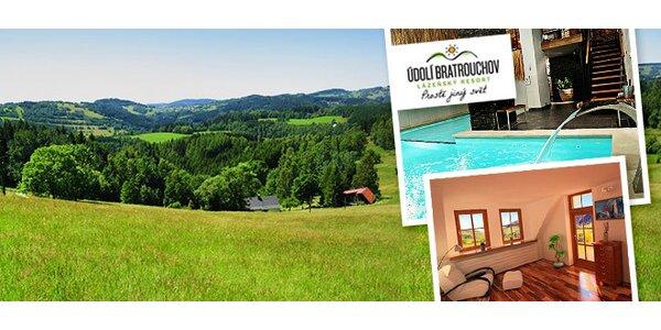 3 dny pro 4 osoby plné božské relaxace v resortu Bratrouchov****