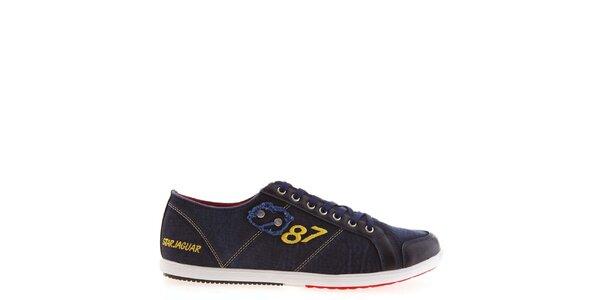 Pánské modré tenisky s číslicí Jaguar