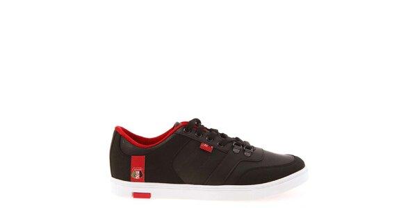 Pánské černé tenisky s červenou podšívkou Jaguar
