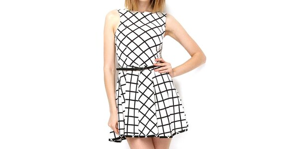 Dámské černo-bílé šaty Deck