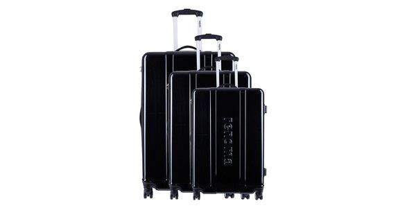 Set tří černých cestovních kufrů Renoma