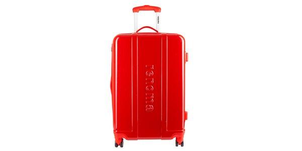 Menší červený cestovní kufr Renoma