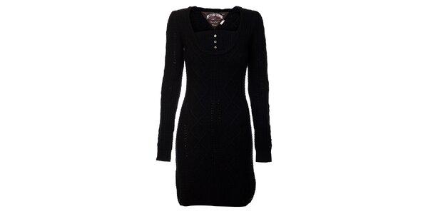 Černé svetrové šaty Tommy Hilfiger