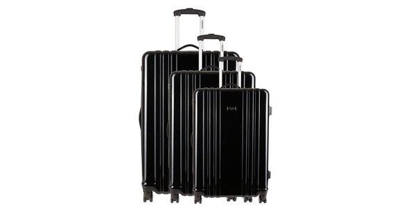 Sada tří černých kufrů Renoma