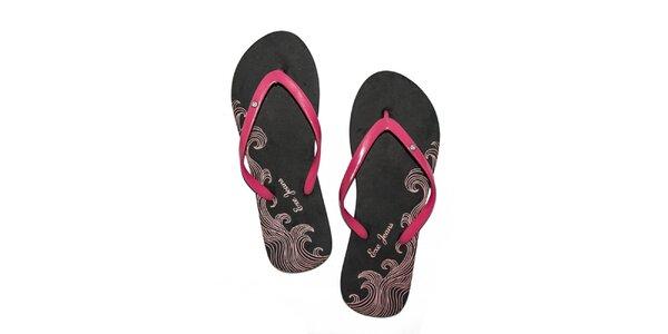 Dámské černo-růžové pěnové žabky Exe Jeans
