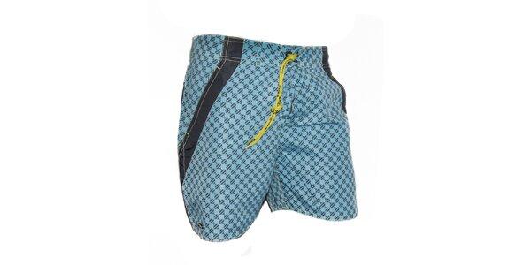 Pánské modré kostkované plavky Exe Jeans