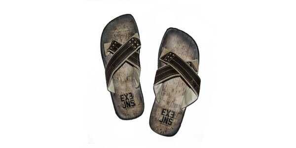 Pánské hnědé sandály Exe Jeans