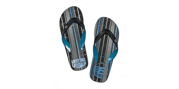 Pánské modro-černé žabky Exe Jeans