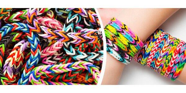 Colorful Loom Bands na výběr celá sada nebo extra balení gumiček