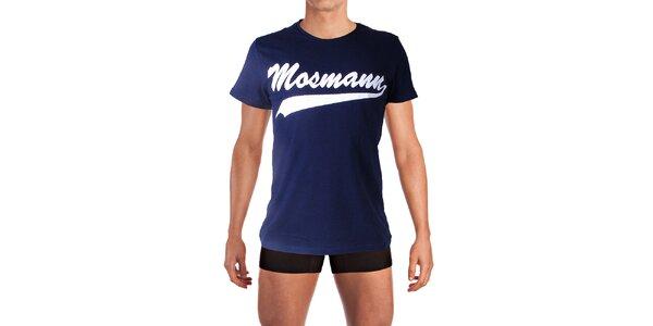 Pánské tmavě modré tričko s potiskem Mosmann