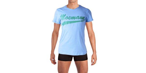 Pánské světle modré tričko s potiskem Mosmann