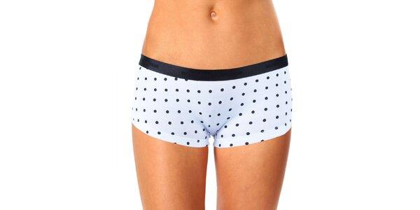 Dámské černo-bílé nohavičkové kalhotky s puntíky Mosmann