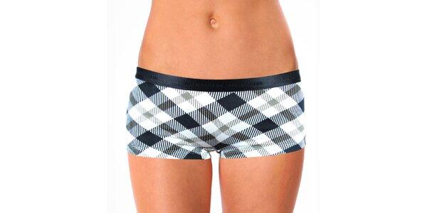 Dámské kostkované nohavičkové kalhotky Mosmann