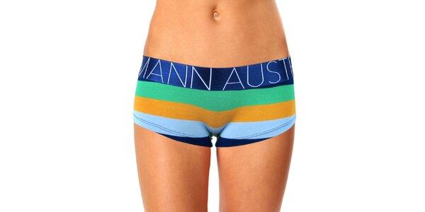 Dámské barevně pruhované nohavičkové kalhotky Mosmann