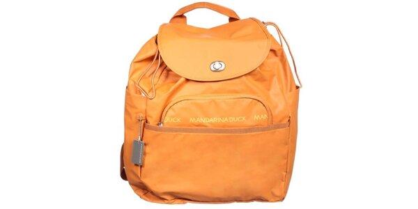 Dámský oranžový batoh Mandarina Duck