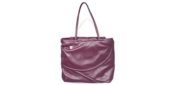 Dámská fialovo-smetanová kabelka s reliéfem Mandarina Duck