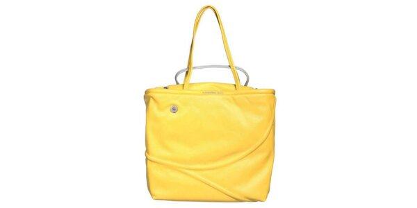 Dámská žluto-stříbrná kabelka s reliéfem Mandarina Duck